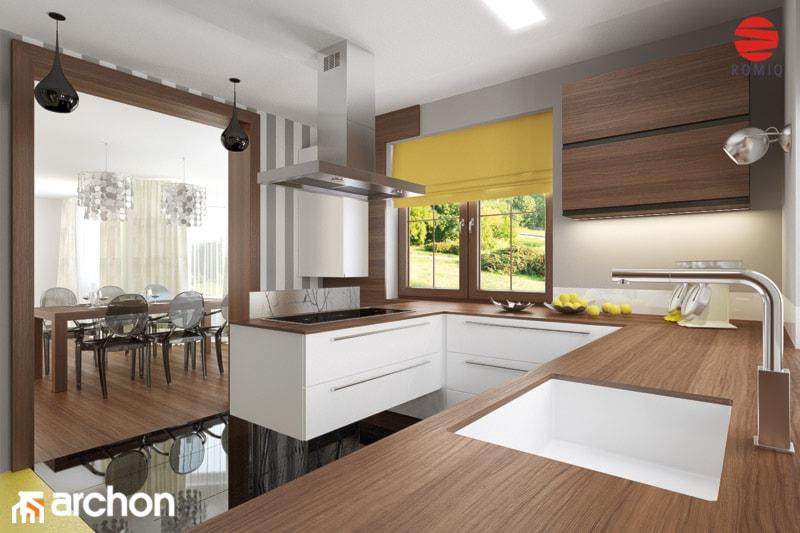 Dom w bergamotkach (G2) - Aranżacja kuchni - zdjęcie od ARCHON+ Biuro Projektów