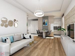 nowoczesny apartament w kolorze kawy z mlekiem - zdjęcie od Izabela Widomska Wnętrza