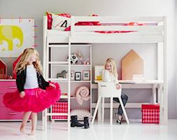 Łóżko wysokie z biurkiem i regałem - zdjęcie od Flexa
