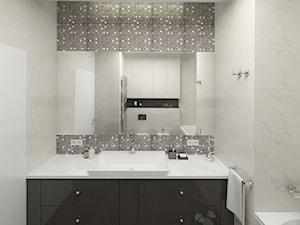 APARTAMENT 130M² – WILANÓW - Średnia biała łazienka na poddaszu w bloku w domu jednorodzinnym bez okna, styl nowoczesny - zdjęcie od Devangari Design