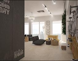 EKO KAWALERKA - Średni szary biały salon, styl skandynawski - zdjęcie od Devangari Design