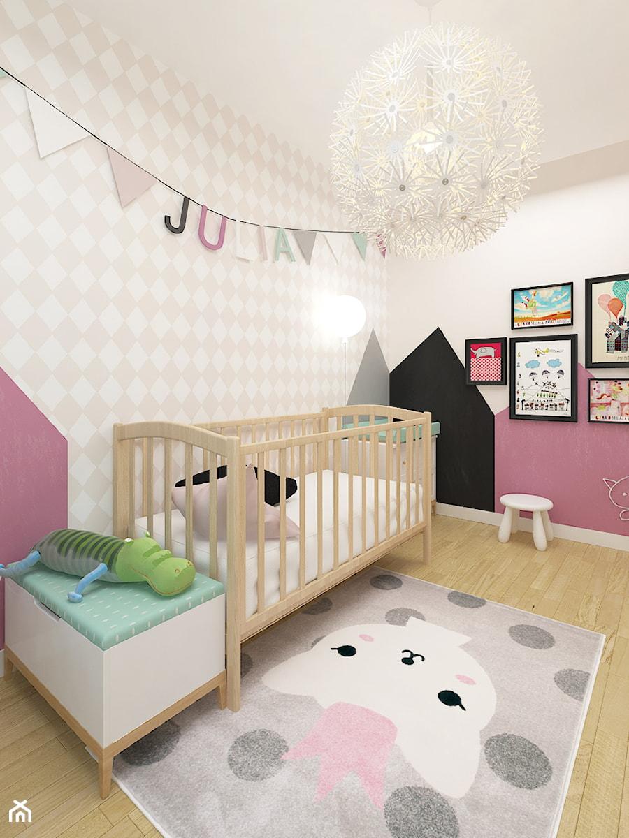 Aranżacje wnętrz - Pokój dziecka: DOM 73M² – LUBOŃ K.POZNANIA - Średni beżowy różowy pokój dziecka dla dziewczynki dla niemowlaka, styl skandynawski - Devangari Design. Przeglądaj, dodawaj i zapisuj najlepsze zdjęcia, pomysły i inspiracje designerskie. W bazie mamy już prawie milion fotografii!