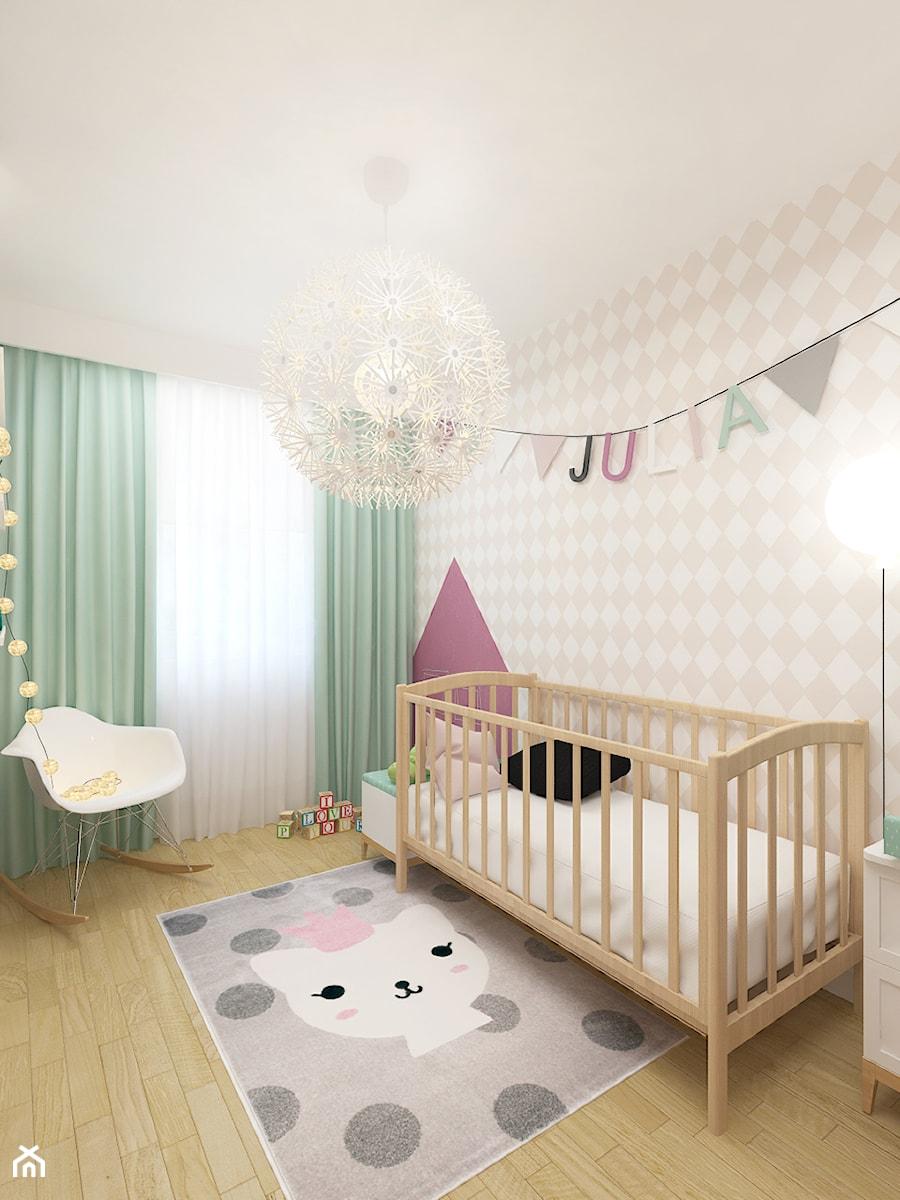 DOM 73M² – LUBOŃ K.POZNANIA - Średni biały beżowy pokój dziecka dla dziewczynki dla malucha, styl skandynawski - zdjęcie od Devangari Design