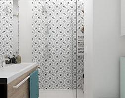 KAWALERKA 32M² – KAMIONEK - Mała łazienka w bloku bez okna, styl rustykalny - zdjęcie od Devangari Design