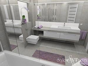 ŁAZIENKA -REALIZACJA MIECHÓW - Średnia szara łazienka bez okna, styl nowoczesny - zdjęcie od Stylownia Wnętrz Projektownie i aranżacja wnętrz