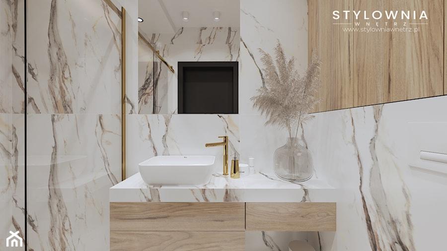 Mała łazienka z prysznicem - Łazienka, styl nowoczesny - zdjęcie od Stylownia Wnętrz Projektownie i aranżacja wnętrz