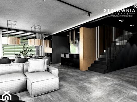 Aranżacje wnętrz - Schody: ciemne schody ze stalową balustradą - Stylownia Wnętrz Projektownie i aranżacja wnętrz. Przeglądaj, dodawaj i zapisuj najlepsze zdjęcia, pomysły i inspiracje designerskie. W bazie mamy już prawie milion fotografii!