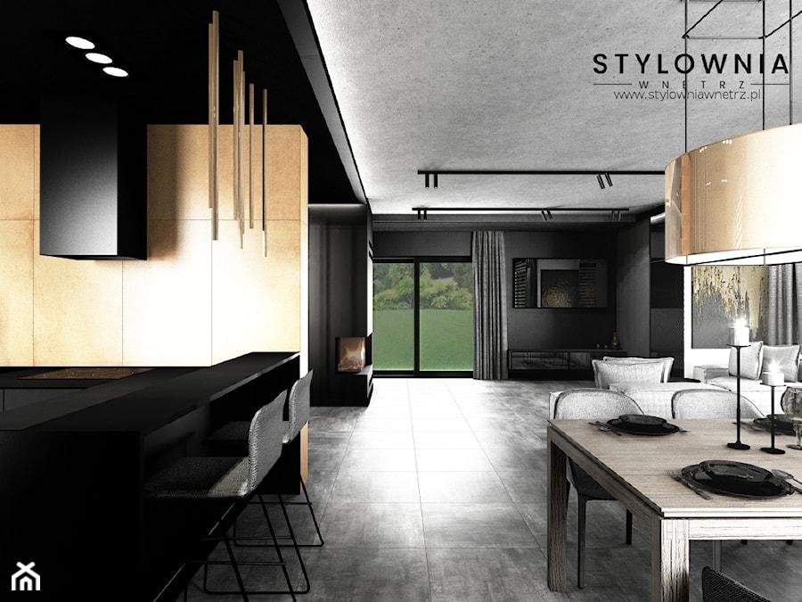 salon w domu jednorodzinnym - zdjęcie od Stylownia Wnętrz Projektownie i aranżacja wnętrz