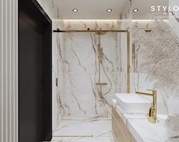 Mała łazienka z prysznicem - Łazienka, styl nowoczesny - zdjęcie od Stylownia Wnętrz Projektownie i aranżacja wnętrz - Homebook
