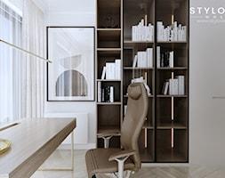 sypialnia z gabinetem - zdjęcie od Stylownia Wnętrz Projektownie i aranżacja wnętrz - Homebook