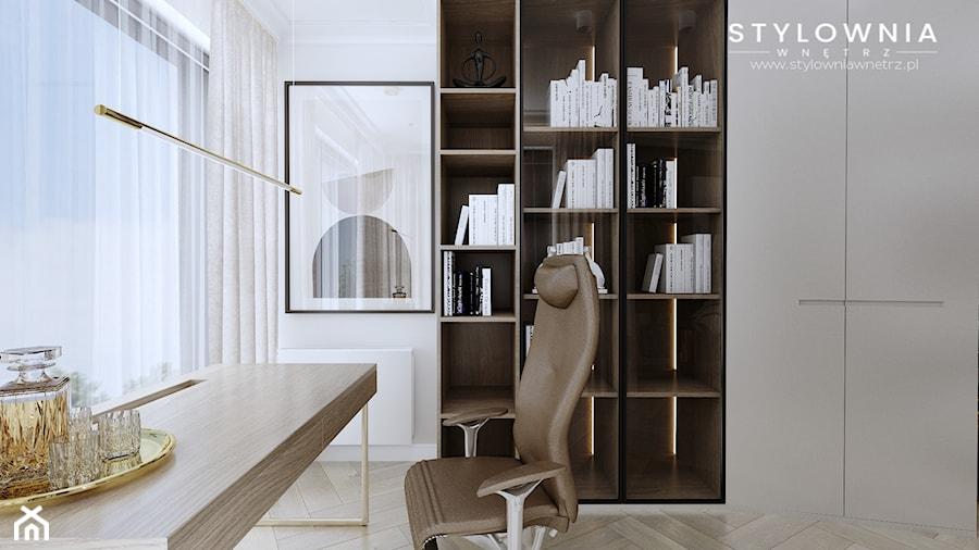 sypialnia z gabinetem - zdjęcie od Stylownia Wnętrz Projektownie i aranżacja wnętrz
