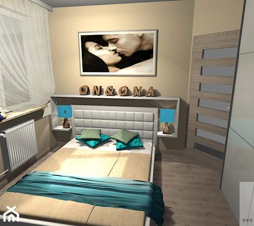 sypialnia w bloku - zdjęcie od MJ Dekor