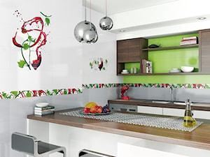 Średnia otwarta kuchnia, styl nowoczesny - zdjęcie od 1000 płytek Agnieszka Strychalska