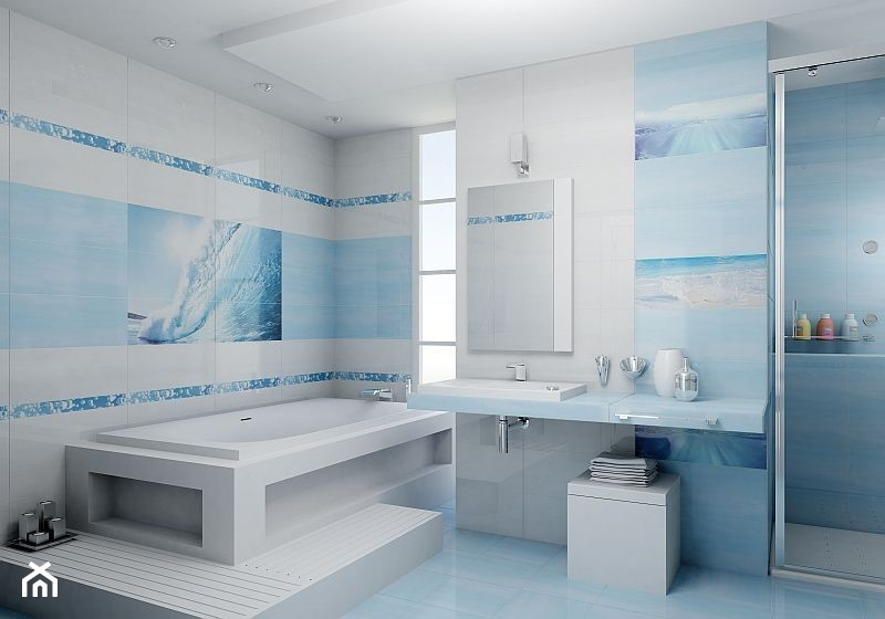 Delfiny Cer Rol Błękitna łazienka łazienka Zdjęcie Od