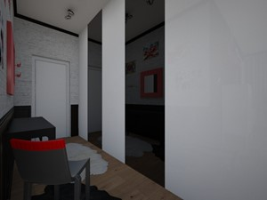 Salon z Aneksem Kuchennym, Hall - Hol / przedpokój, styl nowoczesny - zdjęcie od mo_de_in_studio _ chudy monika