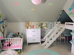 #pokojdziecka - Mały szary pokój dziecka dla chłopca dla dziewczynki dla rodzeństwa dla ucznia dla malucha - zdjęcie od kamila_k0@op.pl