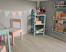 #pokojdziecka - Mały szary pokój dziecka dla chłopca dla dziewczynki dla ucznia dla malucha - zdjęcie od kamila_k0@op.pl