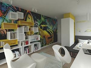 POKÓJ DZIECKA - Średni biały kolorowy pokój dziecka dla chłopca dla ucznia dla nastolatka, styl nowoczesny - zdjęcie od THE VIBE