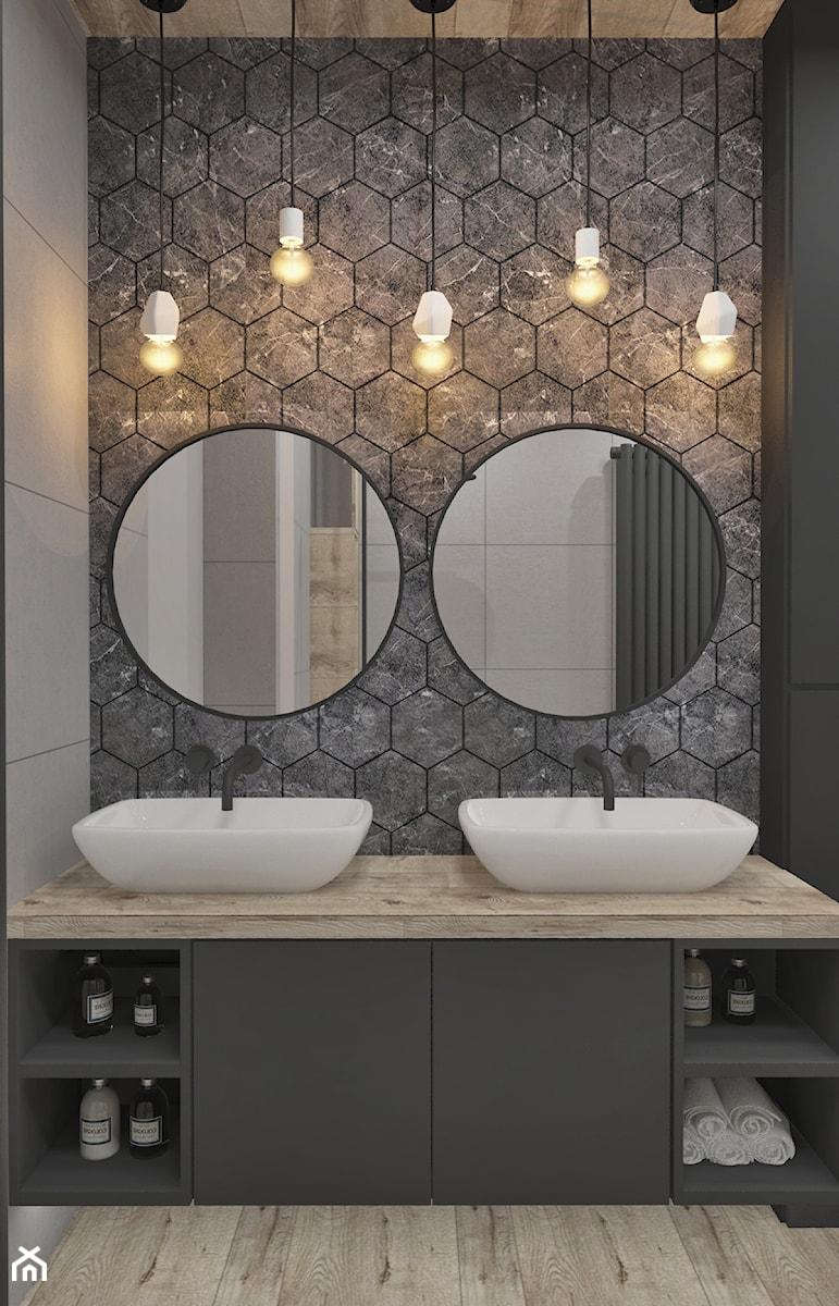 Aranżacje wnętrz - Łazienka: Mieszkanie w skandynawskim stylu - Czarna łazienka w bloku w domu jednorodzinnym bez okna, styl skandynawski - Illa Design. Przeglądaj, dodawaj i zapisuj najlepsze zdjęcia, pomysły i inspiracje designerskie. W bazie mamy już prawie milion fotografii!