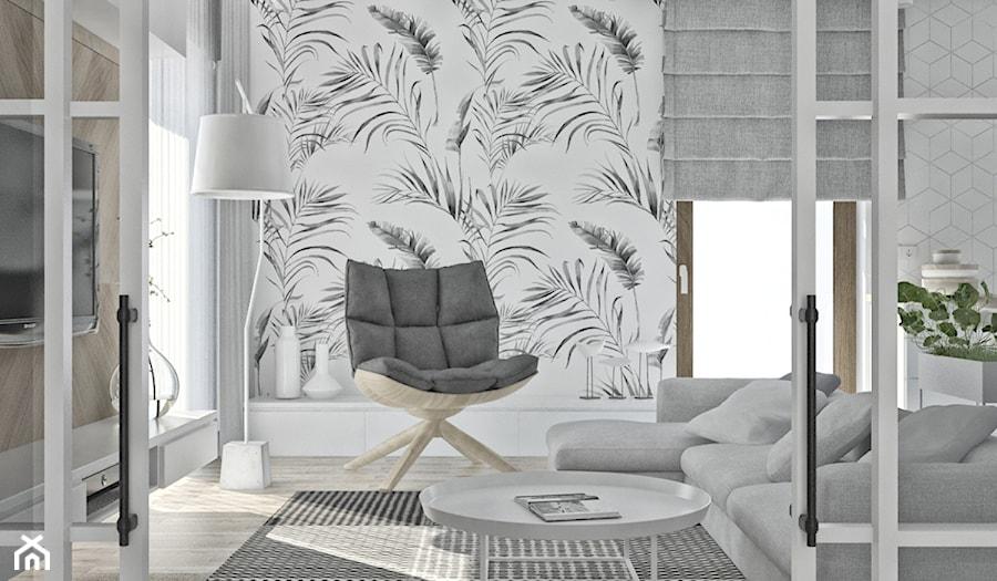 Aranżacje wnętrz - Salon: Mieszkanie w skandynawskim stylu - Średni biały salon, styl skandynawski - Illa Design. Przeglądaj, dodawaj i zapisuj najlepsze zdjęcia, pomysły i inspiracje designerskie. W bazie mamy już prawie milion fotografii!