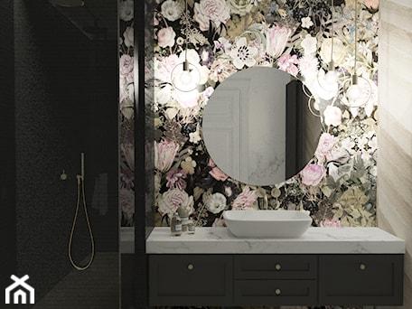 Aranżacje wnętrz - Łazienka: Łazienka inna niż wszystkie - Mała czarna szara łazienka w bloku w domu jednorodzinnym bez okna, styl art deco - Illa Design. Przeglądaj, dodawaj i zapisuj najlepsze zdjęcia, pomysły i inspiracje designerskie. W bazie mamy już prawie milion fotografii!