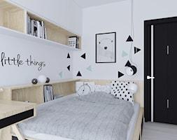 Mieszkanie w stonowanych barwach - Średni biały pastelowy miętowy czarny pokój dziecka dla chłopca dla dziewczynki dla nastolatka - zdjęcie od Illa Design