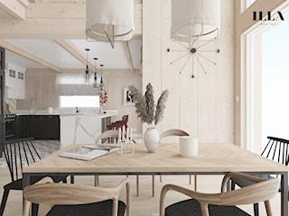 Projekt wnętrz drewnianego domu