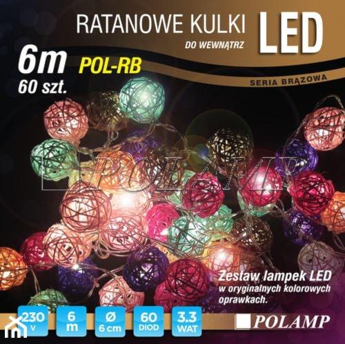 Lampki choinkowe LED - ratanowe kulki. - zdjęcie od 4FunDesign - Homebook