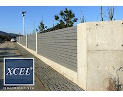 Ogrodzenie nowoczesne beton architektoniczny XCEL Cubero Horizon