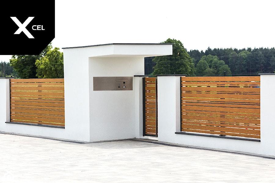 Aluminiowe ogrodzenie Horizon Wood - zdjęcie od XCEL Ogrodzenia
