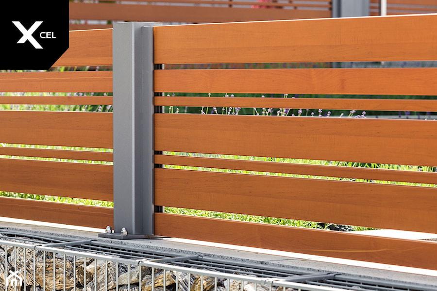 Drewnopodobne ogrodzenie aluminiowe - zdjęcie od XCEL Ogrodzenia