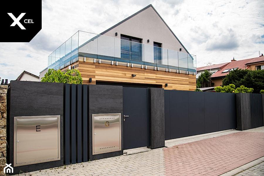 Grafitowe ogrodzenie z aluminium i spieków kwarcowych - zdjęcie od XCEL Ogrodzenia