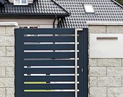 Grafitowa furtka aluminiowa - zdjęcie od XCEL Ogrodzenia - Homebook