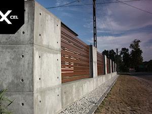Concrete Jungle. Nowoczesne ogrodzenie z betonu i aluminium