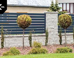 Poziome ogrodzenie grafitowe - zdjęcie od XCEL Ogrodzenia - Homebook