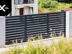 Full Moon. Nowoczesne ogrodzenie aluminiowe w kolorze grafitowym