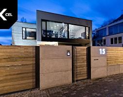 Wood+and+Concrete.+Nowoczesne+ogrodzenie+marki+Xcel+-+zdj%C4%99cie+od+XCEL+Ogrodzenia
