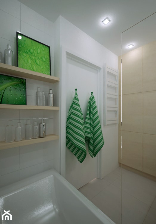 MIESZKANIE W ŚWIDNICY - Średnia biała łazienka w bloku w domu jednorodzinnym bez okna, styl tradycyjny - zdjęcie od TAKE [DESIGN]
