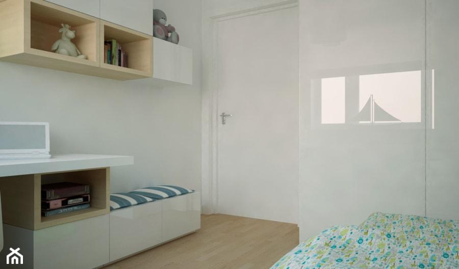 MIESZKANIE W ŚWIDNICY - Średni biały pokój dziecka dla dziewczynki dla malucha, styl tradycyjny - zdjęcie od TAKE [DESIGN]