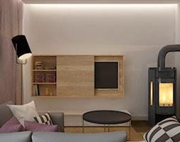 DOM W ZABUDOWIE SZEREGOWEJ- WROCŁAW - Mały biały salon, styl nowoczesny - zdjęcie od TAKE [DESIGN]