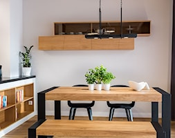 PROJEKT WNĘTRZA DOMU, WROCŁAW - FABRYCZNA - Średnia otwarta biała jadalnia jako osobne pomieszczenie, styl minimalistyczny - zdjęcie od TAKE [DESIGN] - Homebook