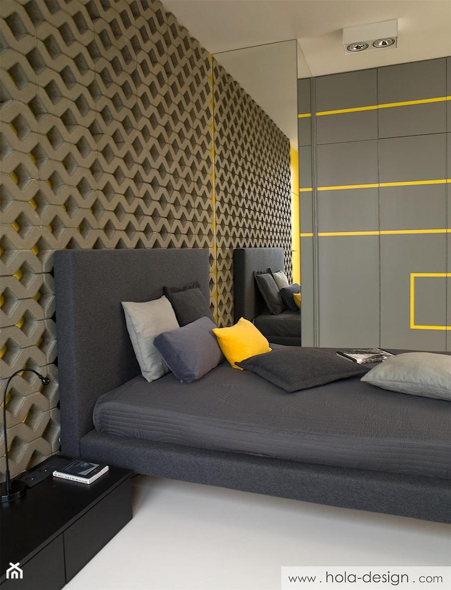 HOLA_16 - Mała kolorowa sypialnia małżeńska, styl nowoczesny - zdjęcie od HOLA DESIGN