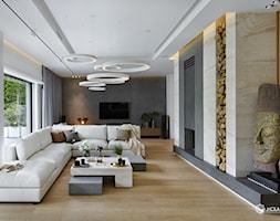 Bliżej świata - Mały biały salon, styl nowoczesny - zdjęcie od HOLA DESIGN