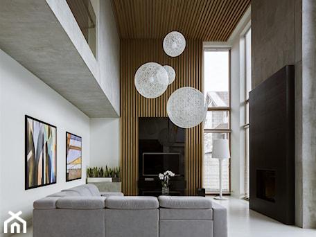 Aranżacje wnętrz - Salon: Rodzinna przestrzeń - Średni biały salon z antresolą, styl nowoczesny - HOLA DESIGN. Przeglądaj, dodawaj i zapisuj najlepsze zdjęcia, pomysły i inspiracje designerskie. W bazie mamy już prawie milion fotografii!