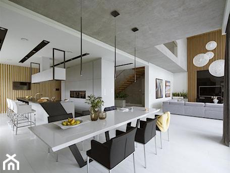 Aranżacje wnętrz - Jadalnia: Rodzinna przestrzeń - Duża otwarta jadalnia jako osobne pomieszczenie, styl nowoczesny - HOLA DESIGN. Przeglądaj, dodawaj i zapisuj najlepsze zdjęcia, pomysły i inspiracje designerskie. W bazie mamy już prawie milion fotografii!