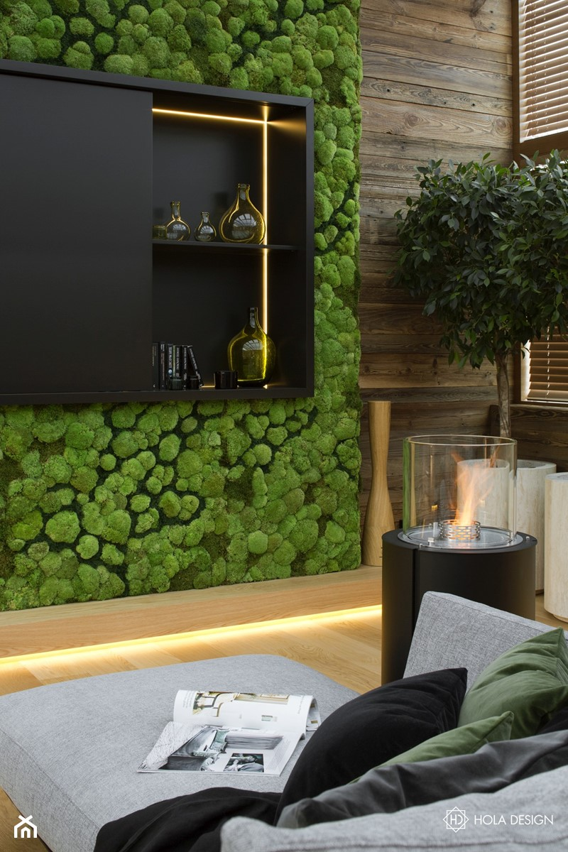Bliżej świata - Mały czarny salon, styl nowoczesny - zdjęcie od HOLA DESIGN