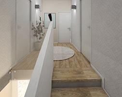 DOM NA ZŁOTNIE - Średni biały beżowy hol / przedpokój, styl nowoczesny - zdjęcie od LUIZA STAR - Homebook