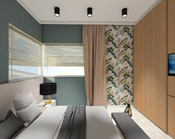 DOM NA ZŁOTNIE - Średnia szara sypialnia małżeńska, styl nowoczesny - zdjęcie od LUIZA STAR - Homebook