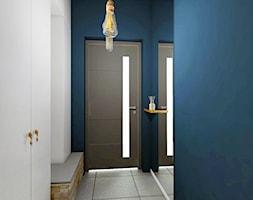 DOM NA ZŁOTNIE - Średni niebieski hol / przedpokój, styl nowoczesny - zdjęcie od LUIZA STAR - Homebook
