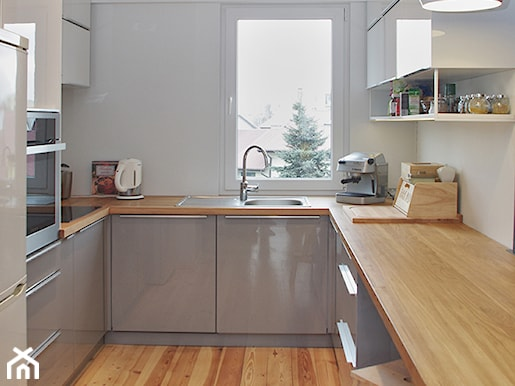 Matowe czy w połysku? Wybieramy fronty do kuchni  Homebook pl -> Kuchnia Czarno Siwa